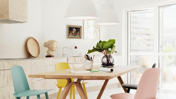 Krzesła i stół MUUTO (via squarespace.pl)