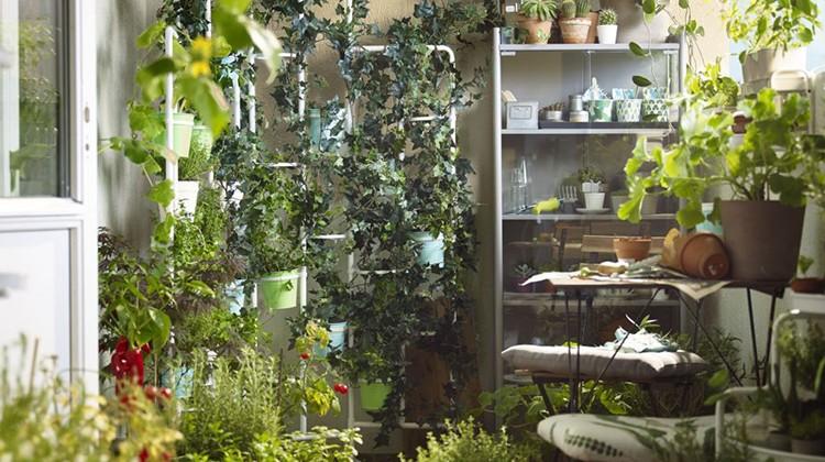 Zielony balkon IKEA