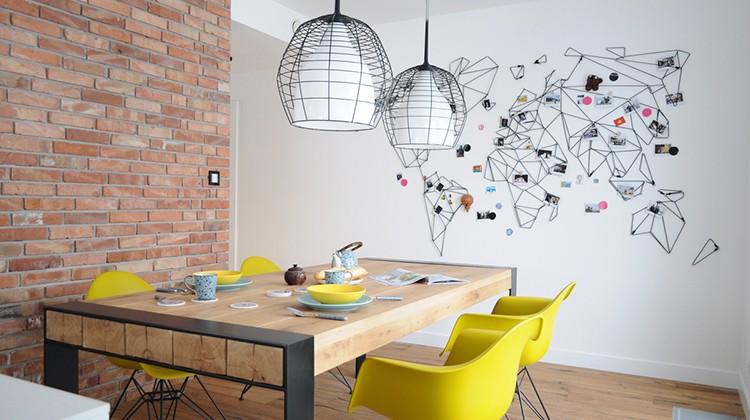 żółte akcenty w domu, żółte eames chair