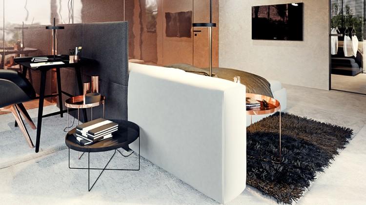 miedź, apartament, nowoczesne wnętrze