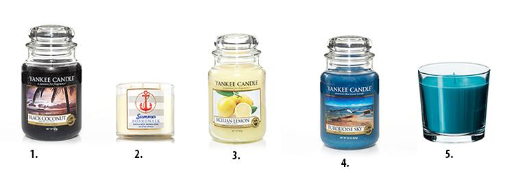 swiece zapachowe, yankee candle, zapachy