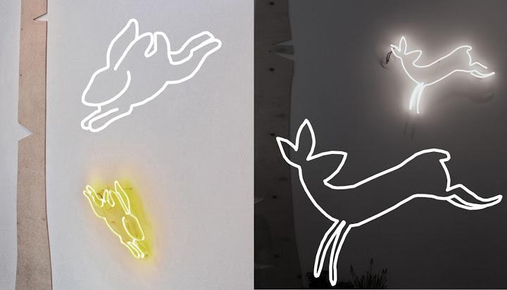 Neony do domu wykonywane według indywidualnego projektu/ projekt: Neonlove