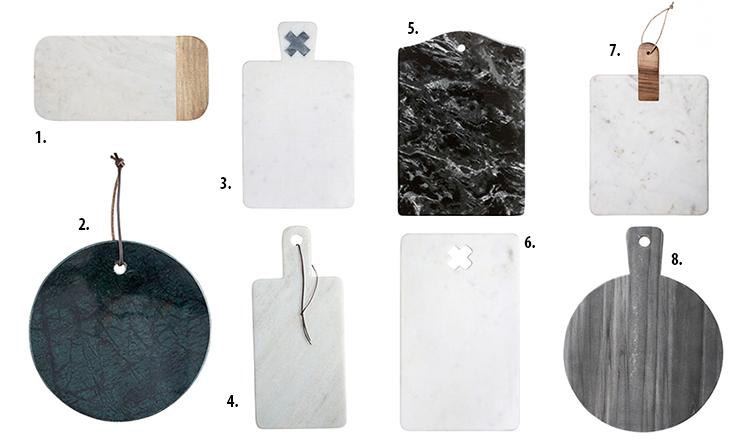 marmurowe deski, deski z marmuru