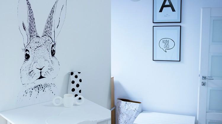 Czarno-biały pokój dla dziecka
