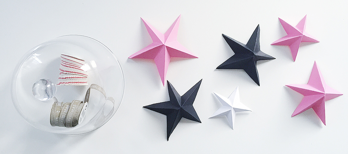 papierowe gwiazdy, gwiazdki 3d, jak zrobić gwiazdkę z papieru