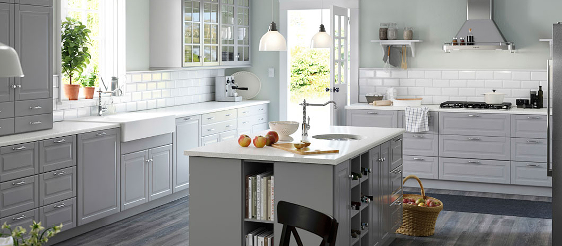 Szara kuchnia i dodatki  Blog o wnętrzach, designie i   -> Kuchnia Kremowa Ikea